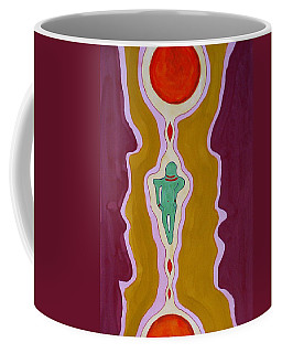 Journey Between Suns Original Painting Coffee Mug by Sol Luckman