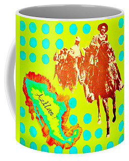 Coffee Mug featuring the painting Journey To Aztlan by Michelle Dallocchio