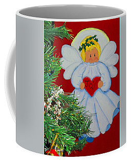 Coffee Mug featuring the painting Joy by Barbara McDevitt