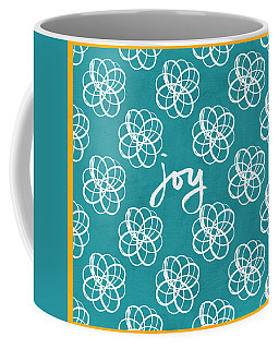 Joy Boho Floral Print Coffee Mug