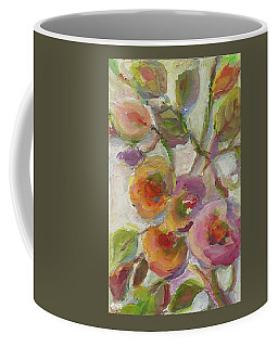 Coffee Mug featuring the painting Joy by Mary Wolf