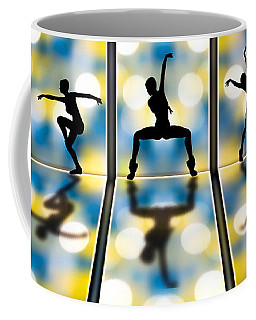Coffee Mug featuring the digital art Joy Of Movement by Bob Orsillo
