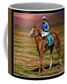Juan Hermandez On Horse Atticus Ghost Coffee Mug
