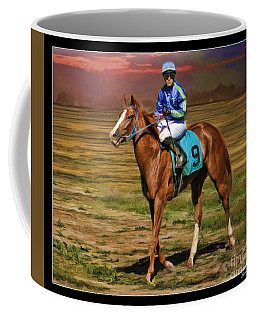 Juan Hermandez On Horse Atticus Ghost Coffee Mug