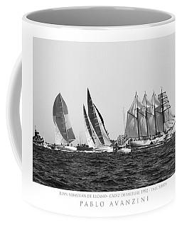 Juan Sebastian Elcano Departing The Port Of Cadiz Coffee Mug