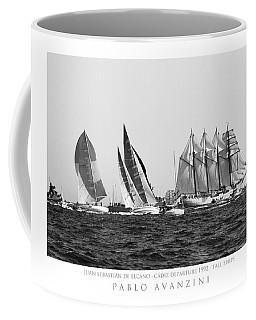 Coffee Mug featuring the photograph Juan Sebastian Elcano Departing The Port Of Cadiz by Pablo Avanzini