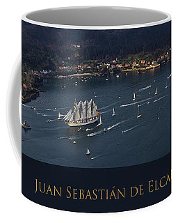 Juan Sebastian Elcano Departing The Port Of Ferrol Coffee Mug