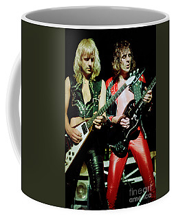 Judas Priest At The Warfield Theater During British Steel Tour Coffee Mug