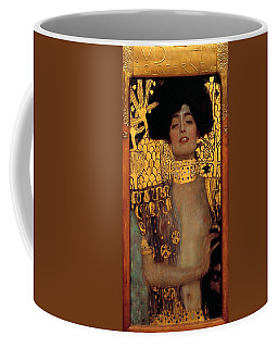 Judith And The Head Of Holofernes Coffee Mug by Gustav Klimt