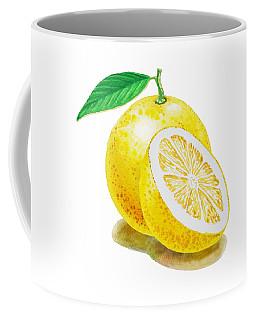 Juicy Grapefruit Coffee Mug by Irina Sztukowski