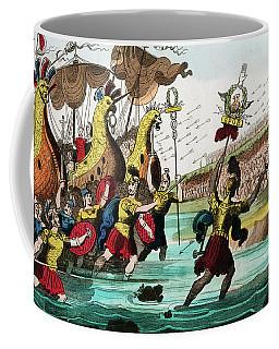 Julius Caesar And Roman Troop Ships Coffee Mug