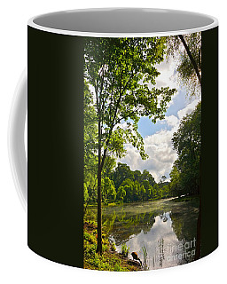 July Fourth Duck Pond With Goose Coffee Mug