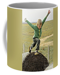 Jumping Haystacks Coffee Mug by Suzanne Oesterling