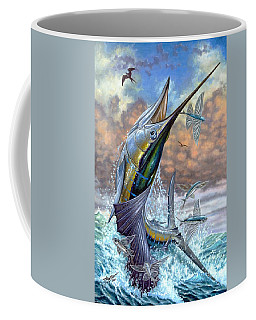 Jumping Sailfish And Flying Fishes Coffee Mug