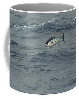 Coffee Mug featuring the photograph Jumping Yellowfin Tuna by Bradford Martin