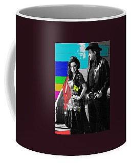 Coffee Mug featuring the photograph June Carter Cash Johnny Cash In Costume Old Tucson Az 1971-2008 by David Lee Guss