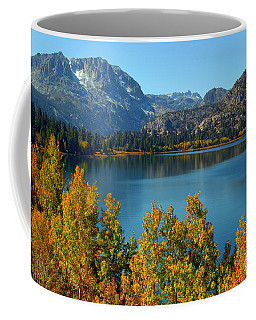 June Lake Blues And Golds Coffee Mug by Lynn Bauer