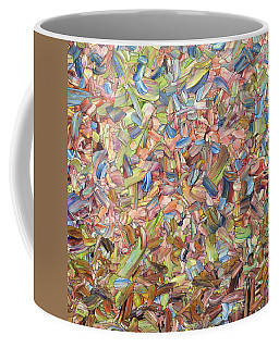 Coffee Mug featuring the painting June - Square by James W Johnson