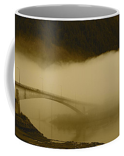 Juneau - Douglas Bridge Coffee Mug by Cathy Mahnke