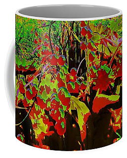 Coffee Mug featuring the digital art Jungle Abstract by Mike Breau