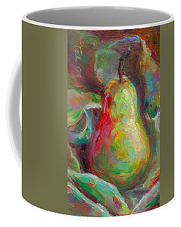 Coffee Mug featuring the painting Just A Pear - Impressionist Still Life by Talya Johnson