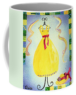 Coffee Mug featuring the painting Just A Simple Hat And Dress by Eloise Schneider