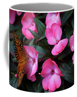 Coffee Mug featuring the photograph Just A Small Taste For This Butterfly by Thomas Woolworth