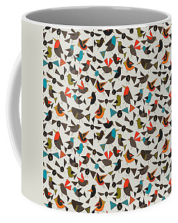 Just Birds China White Coffee Mug