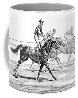 Just Finished - Horse Racing Print Coffee Mug