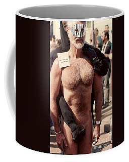 Coffee Mug featuring the photograph New Orleans Just Me And My Shadow At The Mardi Gras In Louisiana by Michael Hoard