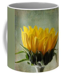 Just Opening Sunflower Coffee Mug