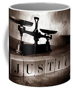 Coffee Mug featuring the photograph Justice by Olivier Le Queinec
