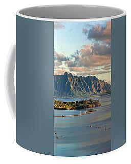 Kaneohe Bay Panorama Mural 2 Of 5 Coffee Mug