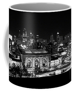 Kansas City In Black And White Coffee Mug