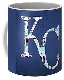 Kansas City Royals Recycled License Plate Art Baseball Logo Coffee Mug