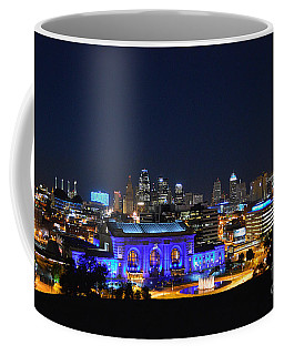 Kansas City Union Station In Blue  Coffee Mug by Catherine Sherman