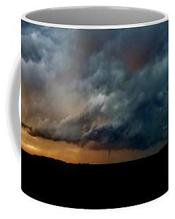 Kansas Tornado At Sunset Coffee Mug by Ed Sweeney