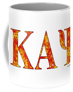 Coffee Mug featuring the digital art Kappa Alpha Psi - White by Stephen Younts
