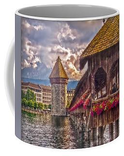 Coffee Mug featuring the photograph Kapellbruecke by Hanny Heim