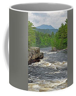 Katahdin And Penobscot River Coffee Mug