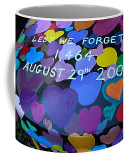 Katrina Casket Memorial Inscription Coffee Mug
