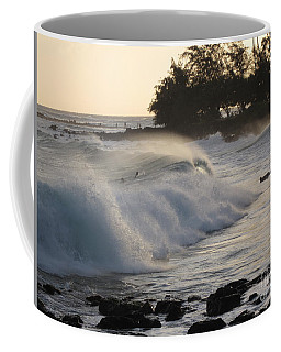 Kauai - Brenecke Beach Surf Coffee Mug by HEVi FineArt