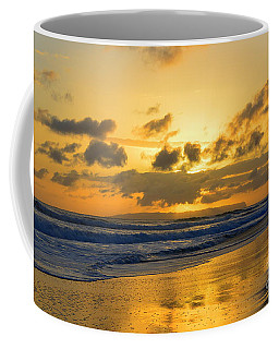 Kauai Sunset With Niihau On The Horizon Coffee Mug by Catherine Sherman