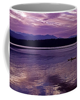 Coffee Mug featuring the photograph Kayak On Dabob Bay by Greg Reed