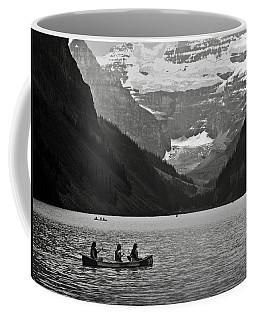 Kayak On Lake Louise Coffee Mug