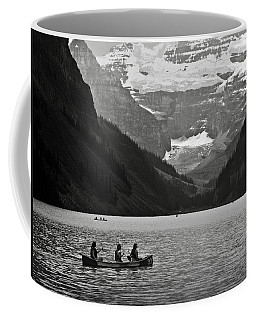Kayak On Lake Louise Coffee Mug