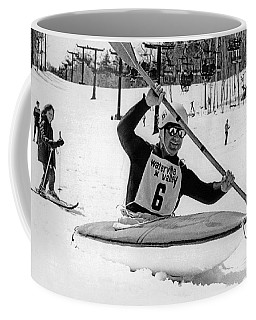 Kayaking Down The Mountain Coffee Mug
