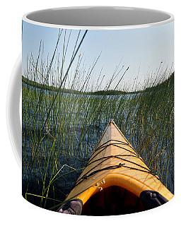 Kayaking Through Reeds Bwca Coffee Mug