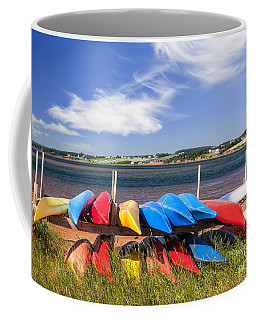 Kayaks At Atlantic Shore  Coffee Mug