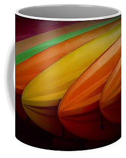 Coffee Mug featuring the photograph Kayaks by Patricia Strand
